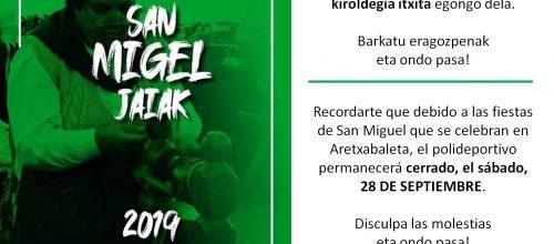 San  Migel  jaiak  2019