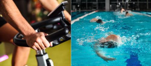 Actividades en la piscina y en la sala indoor
